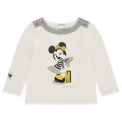 Long-sleeved sailor-style tee-shirt with Disney Minnie Mouse print