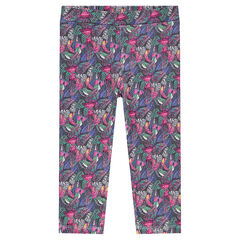 Short sports leggings with printed butterflies