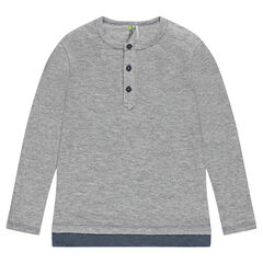 Cotton sweatshirt with layered effect