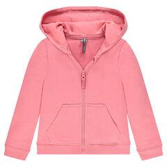 Junior - Zipped fleece hooded jacket