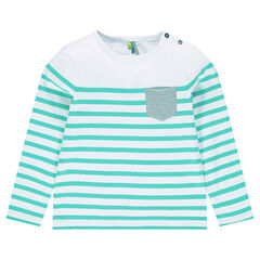 Junior - Striped shirt with patch pocket