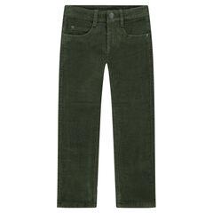 Ribbed velvet pants