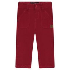 Jersey-lined twill pants