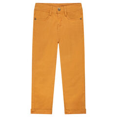 Mustard yellow pants in twill