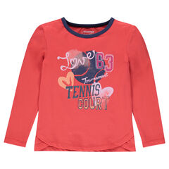 Junior - Long sleeve creative print T-shirt
