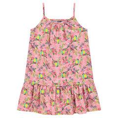 Summer dress with decorative print
