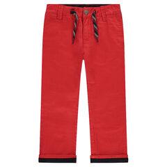 Plain red chino pants