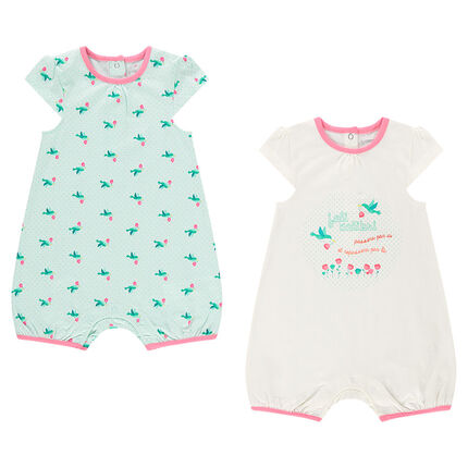 Set of 2 rompers in jersey
