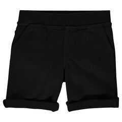 Junior - Plain-colored, light fleece bermuda shorts