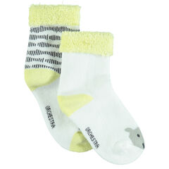 Set of 2 pairs of assorted socks with jacquard motif