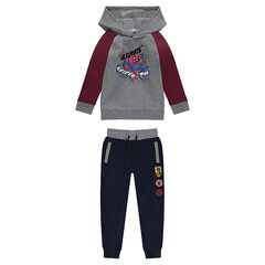 Two-tone fleece sweatsuit with ©Marvel Spiderman print