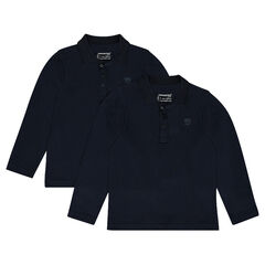 Junior - Pack of 2 long sleeves polos print logo