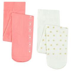 Set of 2 thin printed tights