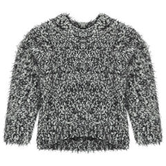 Fur-effect knit sweater