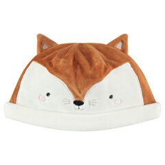 Fox head-shaped velvet cap