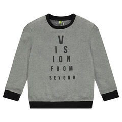 Junior - Fleece sweatshirt with printed message
