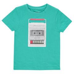 Junior - Short-sleeved, jersey tee-shirt with decorative print