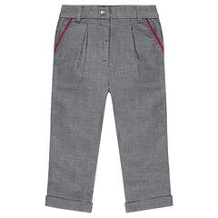 Chino-style jacquard pants