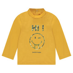 Thin jersey sweater with ©Smiley print