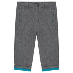 Microfleece-lined cotton pants