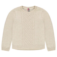 Junior - Knit sweater with stitched details