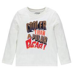 Long sleeve creative print T-shirt