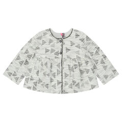 Jacquard jacket with graphic print