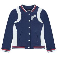 Junior - Fleece letterman jacket with badges