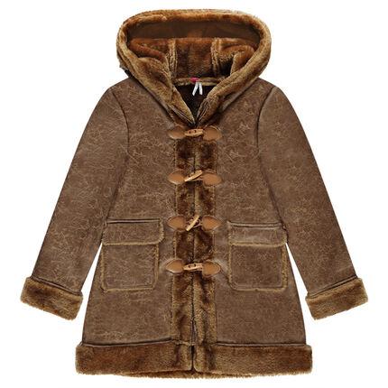 Junior - Coat in skin-out furskin and fake fur