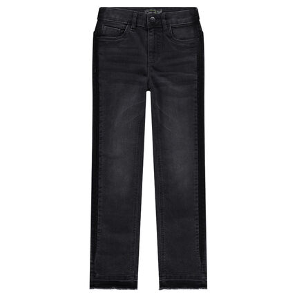Junior - Used-effect slim fit jeans