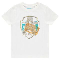 Junior - Short-sleeved tee-shirt with decorative print