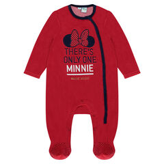 Disney Minnie Mouse velvet footed sleeper