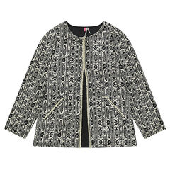 Cotton jacket with an allover motif