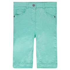 Plain-colored, twill 3/4 pants