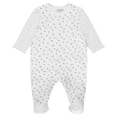 Star printed cotton sleeper for premature to 3 months