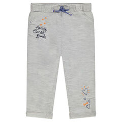 Embroidered woven cotton pants