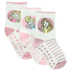 Set of 3 pairs of non-slip socks with Disney Princesses