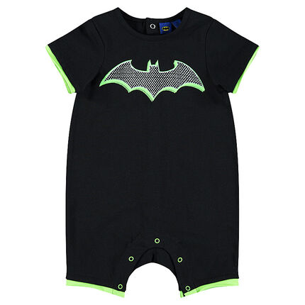 Short jersey playsuit with printed BATMAN logo