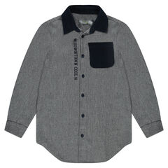 Junior - Flannel shirt with elbow patches