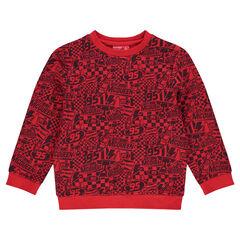 Fleece sweatshirt featuring allover Disney/Pixar® Cars print