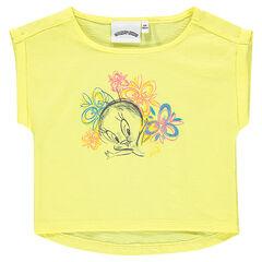 Short-sleeved tee-shirt featuring Lonney Tunes Tweety Bird