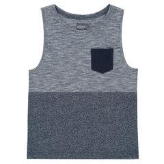 Junior - Trendy jersey tank top with pocket