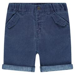 Bermuda shorts in woven cotton
