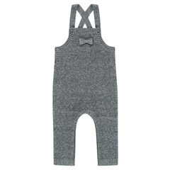 Long knit overalls