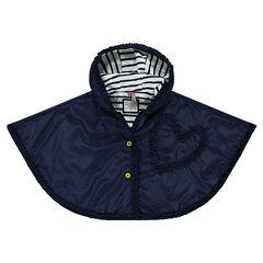 Hooded windbreaker cape