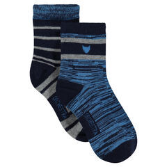Set of 2 pairs of striped socks