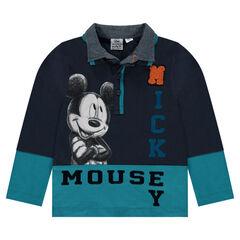 Polo en jersey et chambray Disney Mickey