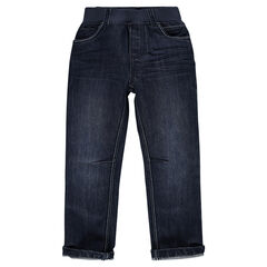 Jeans with an elastic waistband