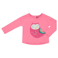 Square tee-shirt with owl patch