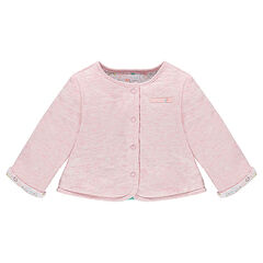 Reversible jersey jacket for newborns
